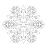 Illustration décorative de mandala Image libre de droits