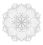 Illustration décorative de mandala Photo libre de droits