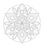 Illustration décorative de mandala Photographie stock libre de droits