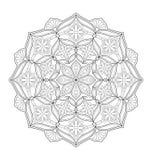 Illustration décorative de mandala Photo stock