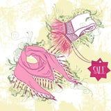 Illustration décorative de mode des écharpes des femmes Image libre de droits