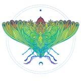 Illustration décorative de vecteur de gradient coloré d'isolat de mite Image libre de droits
