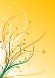 Illustration décorative florale de vecteur de fond de source abstraite Photographie stock libre de droits