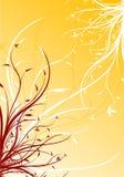 Illustration décorative florale de vecteur de fond de source abstraite Images libres de droits