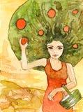 Illustration dépeignant un chiffre d'une femme Images libres de droits