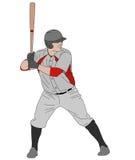 Illustration détaillée de joueur de baseball Photos stock