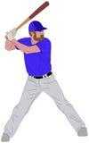 Illustration détaillée 6 de joueur de baseball illustration stock