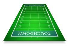 Illustration détaillée des champs de football américain avec la perspective, vecteur eps10 illustration de vecteur