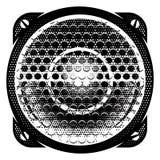 Illustration détaillée monochrome de vecteur élégant avec le haut-parleur Photo stock