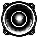 Illustration détaillée monochrome de vecteur élégant avec le haut-parleur Photos stock