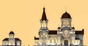 Illustration d'église Photographie stock libre de droits