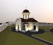 Illustration d'église Photo libre de droits