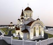 Illustration d'église Photos libres de droits