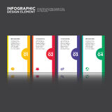 Illustration d'élément de conception de disposition de rapport de gestion d'Infographic Images libres de droits