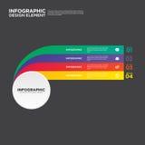 Illustration d'élément de conception de disposition de rapport de gestion d'Infographic Photographie stock libre de droits