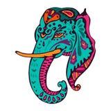 Illustration d'éléphant d'Asie de vintage de vecteur Photos stock