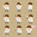 Illustration d'émotions d'homme d'affaires Photographie stock libre de droits