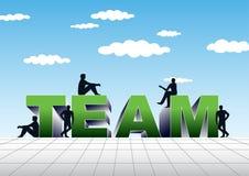 Illustration d'équipe Photos libres de droits