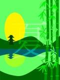 Illustration d'été dans le slyle japonais illustration stock