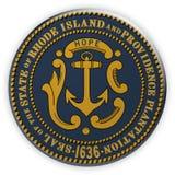 Illustration d'Île de Rhode 3d de joint d'état d'USA d'insigne illustration stock