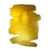 Illustration d'abrégé sur tache de peinture de texture d'aquarelle d'or La course brillante de brosse a placé pour vous le projet Image libre de droits