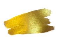 Illustration d'abrégé sur tache de peinture de texture d'aquarelle d'or La course brillante de brosse a placé pour vous le projet Photographie stock