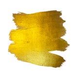 Illustration d'abrégé sur tache de peinture de texture d'aquarelle d'or La course brillante de brosse a placé pour vous le projet Images libres de droits