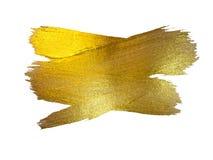 Illustration d'abrégé sur tache de peinture de texture d'aquarelle d'or La course brillante de brosse a placé pour vous le projet Photo libre de droits