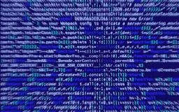 illustration 3d Abstrakt blå bakgrund, teknologi dator för binär kod Royaltyfri Bild