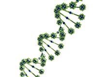 Illustration 3d abstrakten DNA-Helixes Lizenzfreie Stockbilder