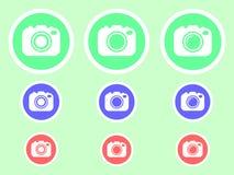 Illustration d'actions de vecteur d'icône plate de caméra de photo illustration de vecteur