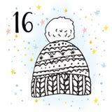 Illustration d'Advent Calendar pour l'attente de Noël illustration libre de droits