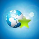 Illustration d'affaires de la terre et d'étoile Image stock