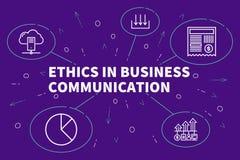 Illustration d'affaires montrant le concept de l'éthique dans les affaires illustration de vecteur
