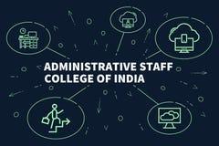 Illustration d'affaires montrant le concept du staf administratif illustration stock