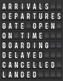 illustration d'affichage de l'information d'aéroport de Fente-aileron Image stock