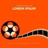 Illustration d'affiche de vintage de bande de bobine de pellicule cinématographique Photo libre de droits