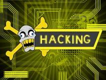 Illustration d'alerte sécurité de Cyber entaillée par site Web 2d illustration de vecteur