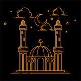 Illustration d'alignement de mosquée conception d'art illustration de vecteur
