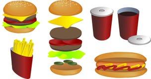 Illustration d'aliments de préparation rapide Photographie stock libre de droits