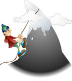 Illustration d'alpiniste illustration stock
