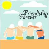 Illustration d'amitié Image stock