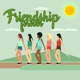 Illustration d'amitié Photographie stock