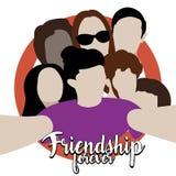 Illustration d'amitié Image libre de droits