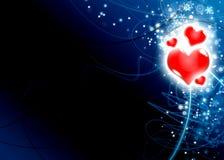 Illustration d'amour de carte du jour de Valentine Image libre de droits