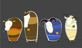 Illustration d'animaux de ferme Photos libres de droits