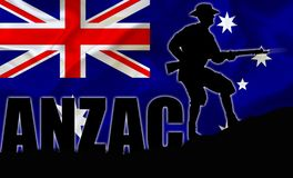 Illustration d'ANZAC d'un solider illustration libre de droits