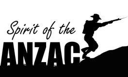 Illustration d'ANZAC d'un solider illustration de vecteur