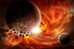 Illustration d'apocalypse d'Eart de planète Images libres de droits