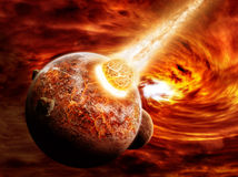Illustration d'apocalypse d'Eart de planète Image libre de droits